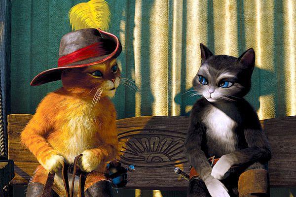 El Gato Con Botas Y Kitty Gato Con Botas Gatos Arte Disney