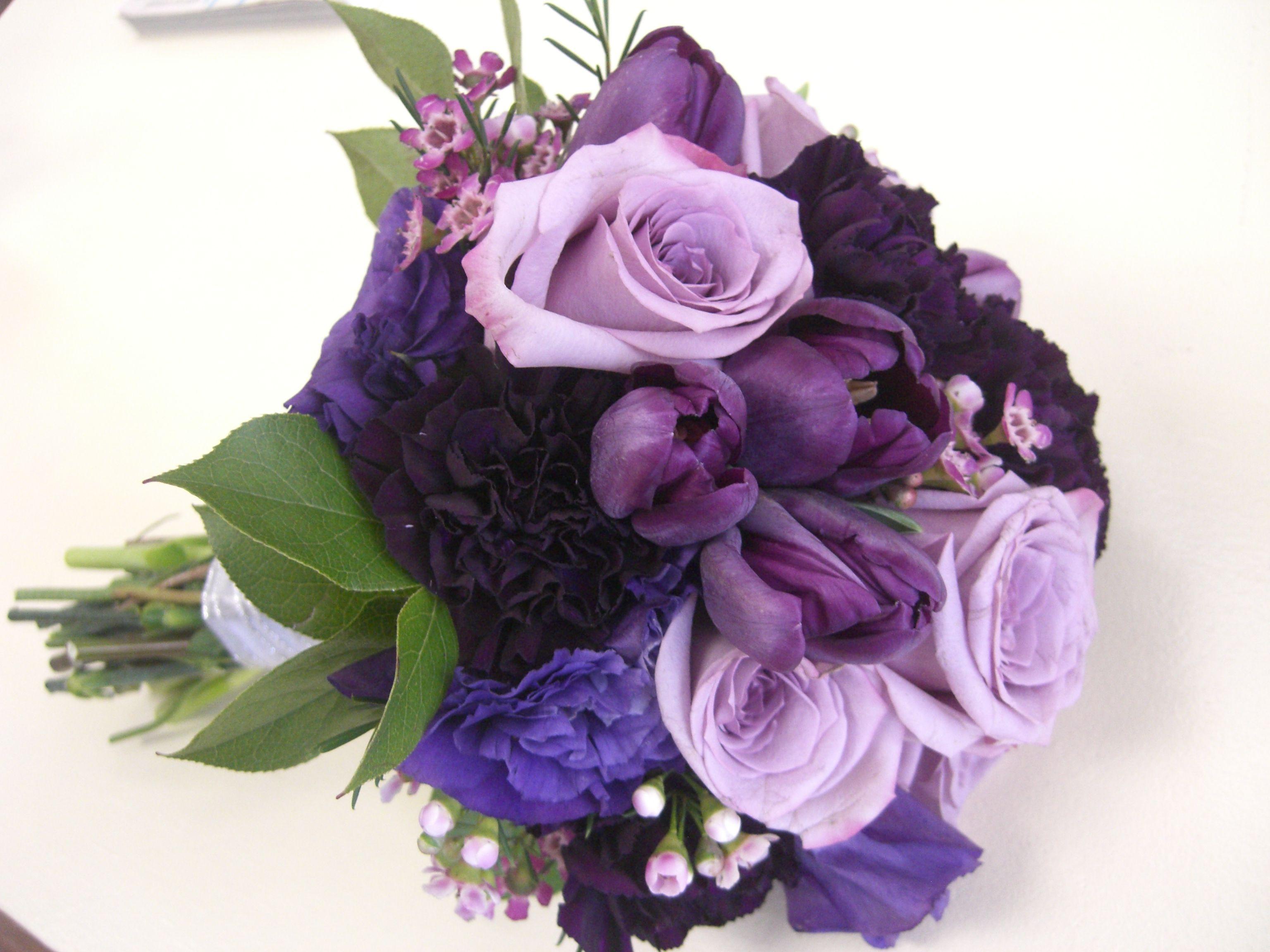 Tulip purple lisianthus purple carnation bouquet white hydrangea tulip purple lisianthus purple carnation bouquet white hydrangea white thecheapjerseys Choice Image