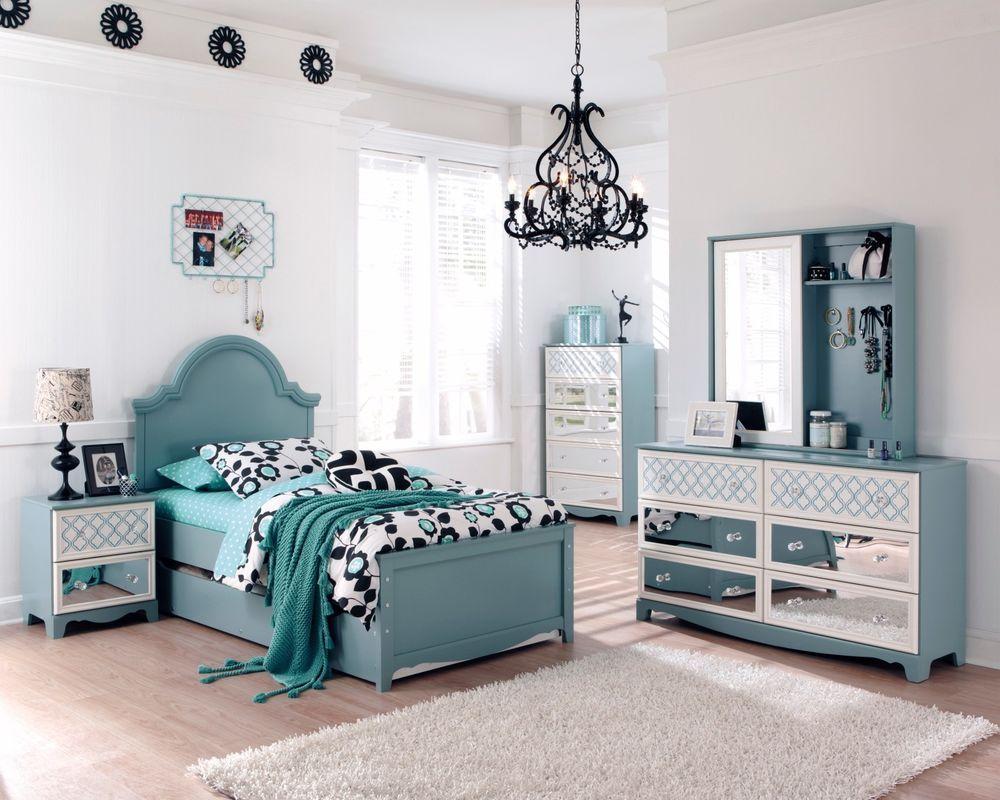 Ashley Mivara Tiffany Turquoise Blue Girls Kids French