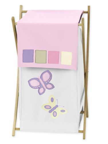 Sweet Jojo Diseno Nina Bebe Ropa Servicio De Lavanderia Cesto Para Mariposa Rosa Del Lecho Del Laundry Hamper Kids Laundry Hamper Jojo Designs