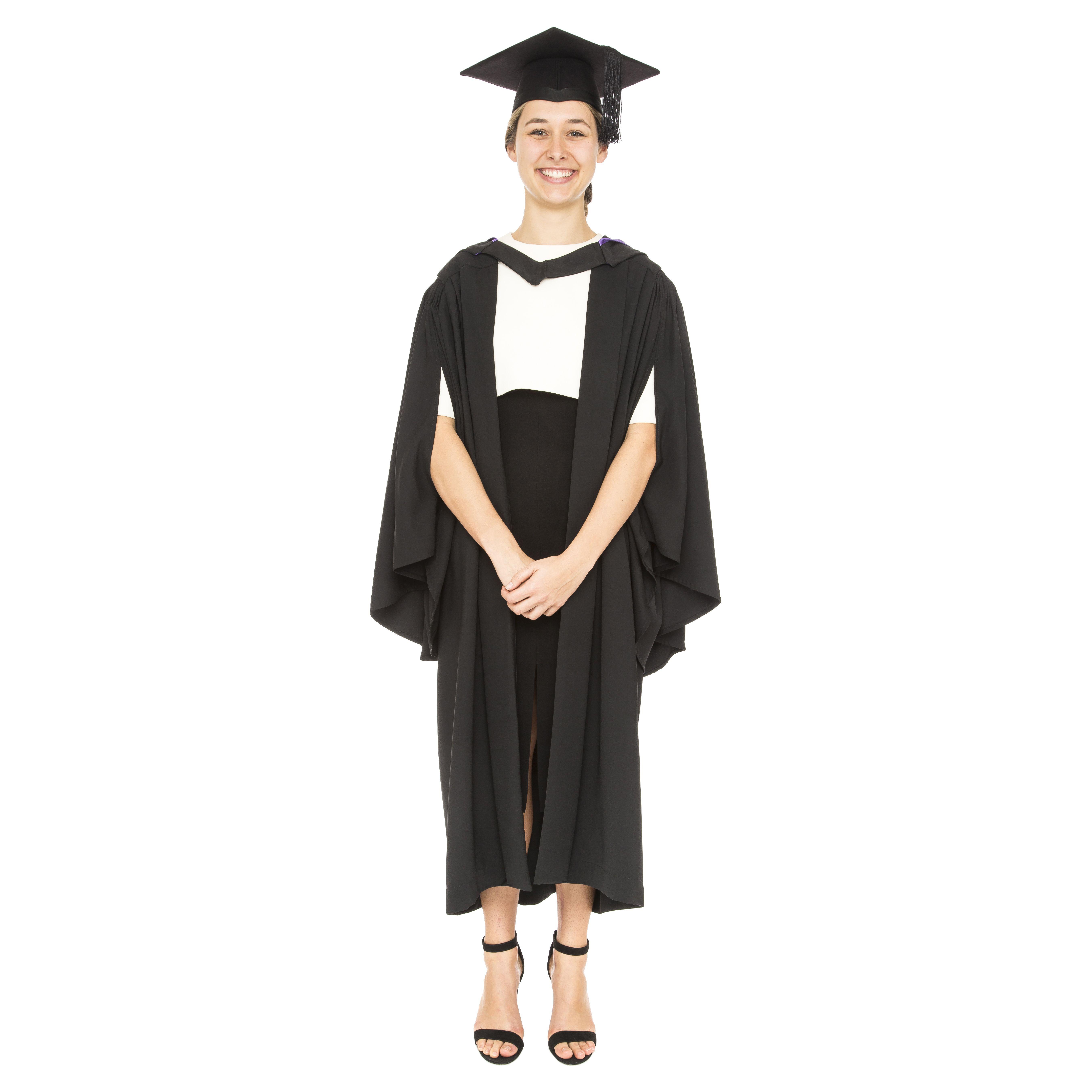 Full graduation set. Gown, hood and Mortarboard | Graduation Attire ...
