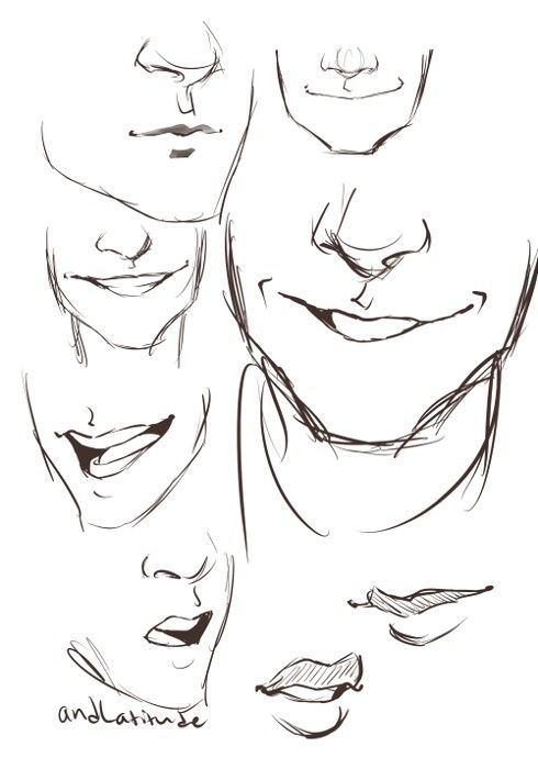 Man Mouth Drawing People Smile Drawing Guy Drawing