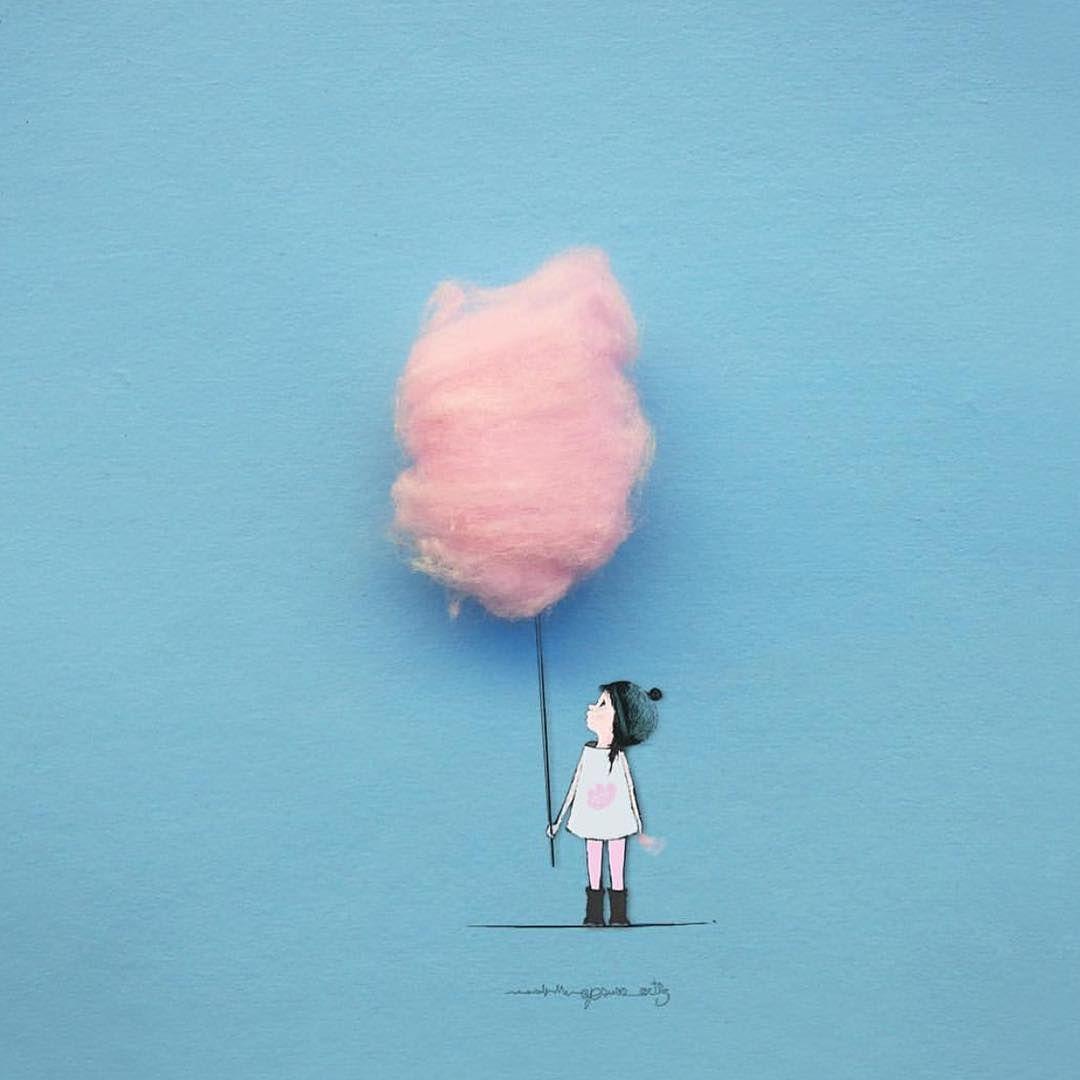 Pin de Lechuza en Algodón de azúcar   Pinterest   Nubes de algodon ...