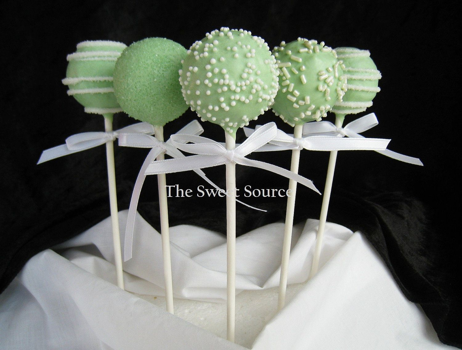 green apple wedding wedding cake pops Cake Pops Wedding Cake Pops Made to Order with by TheSweetSource