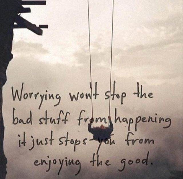 I Love This Quote I Have A Habit Of Worrying About Everything But Now I Have Something To Ease My Mind Inspirational Quotes Words Inspirational Words