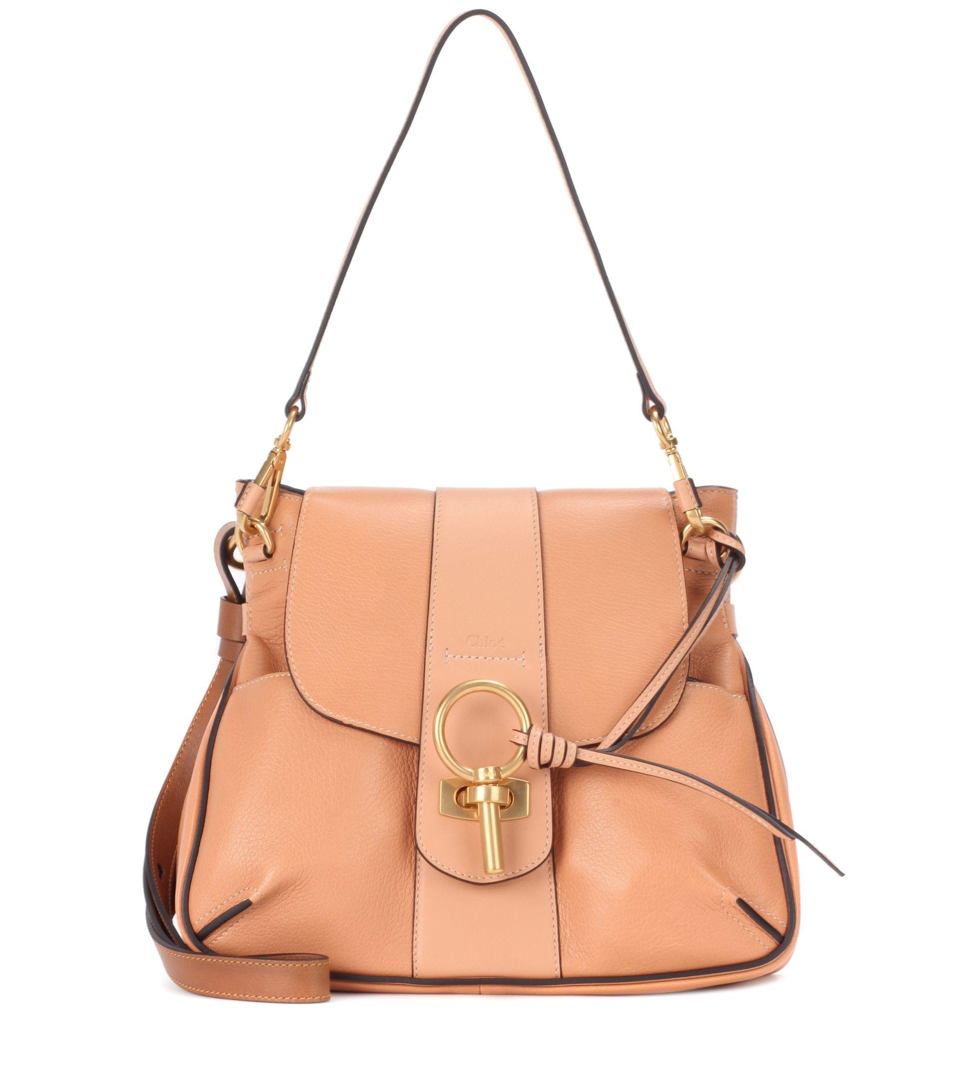 Lexa pink leather shoulder bag