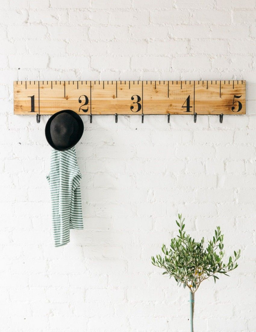 Ruler Coat Rack Decorative Wall Hooks Wall Hooks Coat Rack