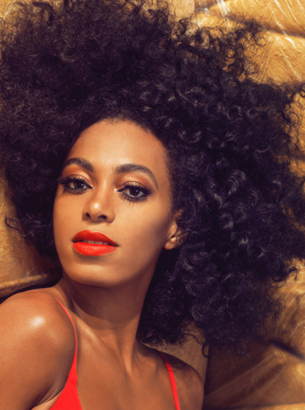 Solange Knowles. Red Lips | Natural hair styles, Hair ...