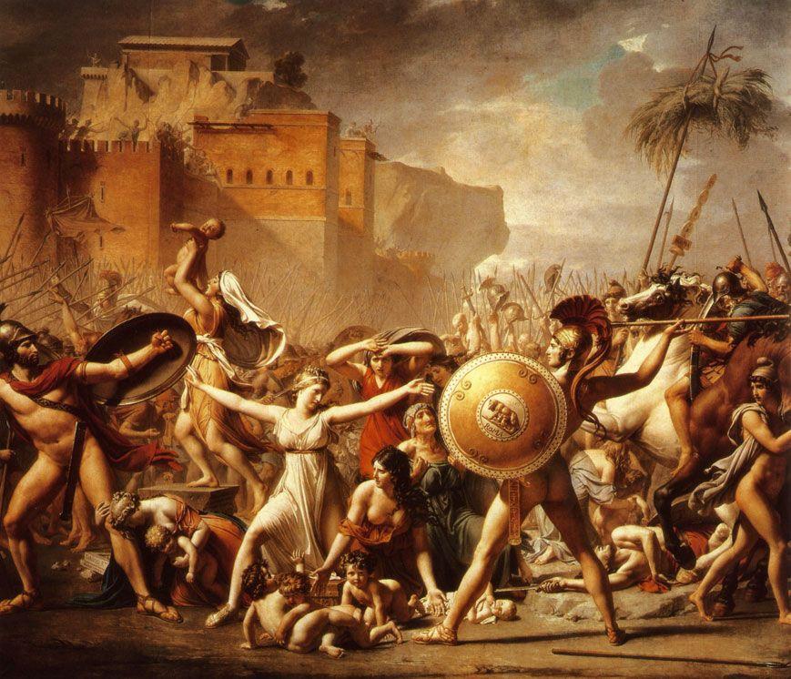 Jean Louis David - Enlèvement des sabines - Le néoclassicisme | Paintings | Pinterest ...