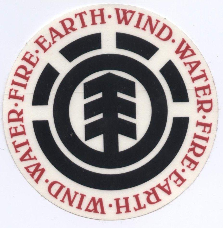 Element Skateboards Earth Wind Water Fire Round Logo Sticker Skateboard Logo Picture Logo Surf Logo