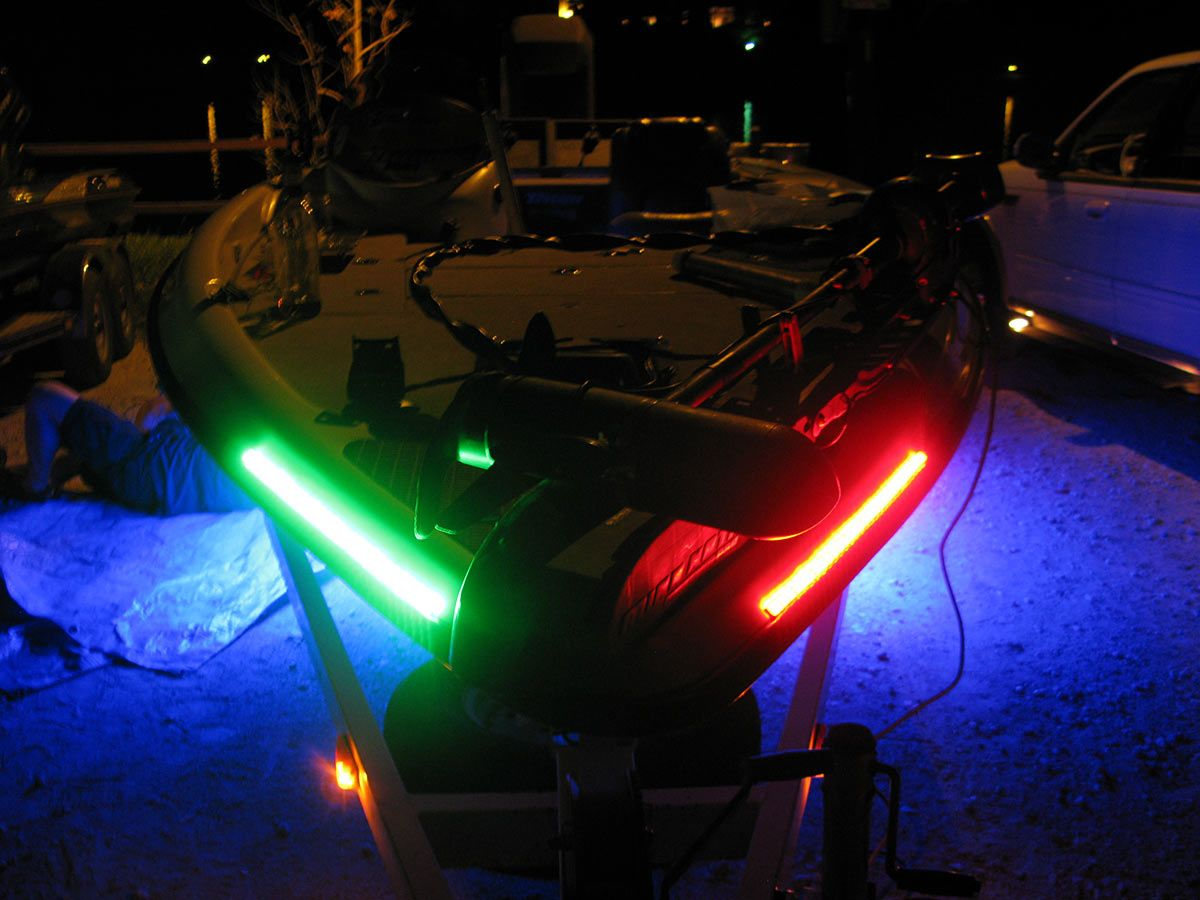 Boat Lights A Triton With Red And Green Marker Lights For Great Visibility Out On The Water Www Supernovafishinglights Boat Lights Fishing Lights Bass Boat