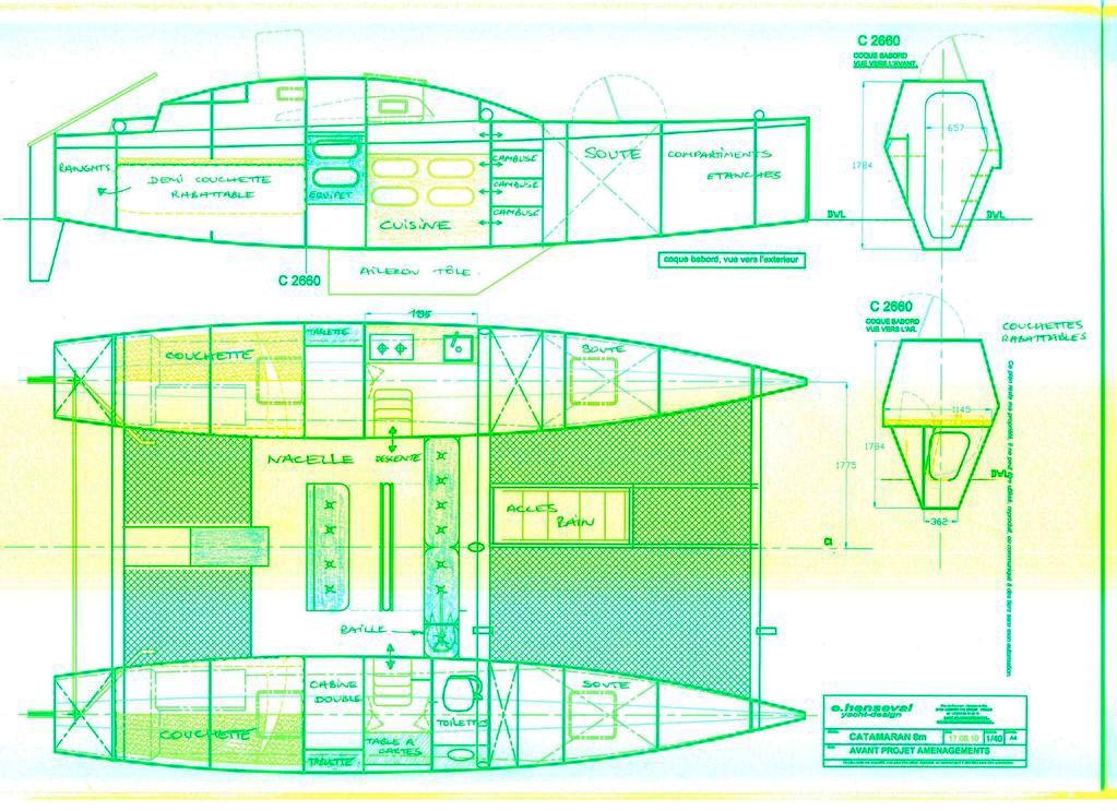 Catamaran Plan Plywood Boat Design Tekne Pinterest