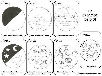 La Creacion De Dios Para Ninos Rayito De Colores La Creacion Para Ninos 7 Dias De La Creacion Manualidades De La Biblia Para Ninos