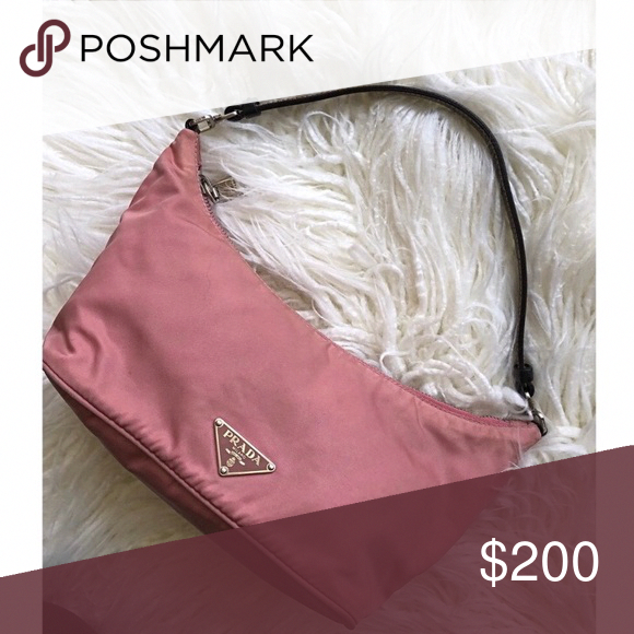 6f0a599b8fed Spotted while shopping on Poshmark  Vintage PRADA Pink Handbag -  authentic!!  poshmark  fashion  shopping  style  Prada  Handbags   Pradahandbags