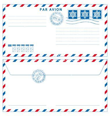 Airmail Envelope Vector Airmail Envelopes Airmail Envelopes Printable Envelope Template Printable