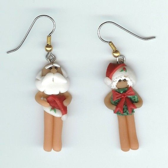 5e4e8439bd885 Mr and Mrs Santa Claus Sort of Naked Earrings | Ornaments ...