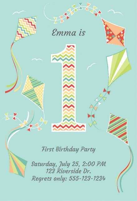 Free 1st Birthday Invitation Templates Greetings Island - First - first birthday invitation templates free