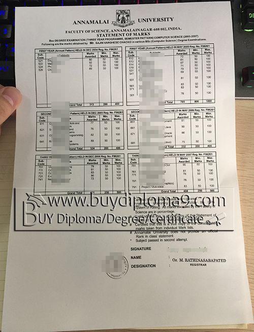 Annamalai transcript , Buy diploma, buy college diploma,buy