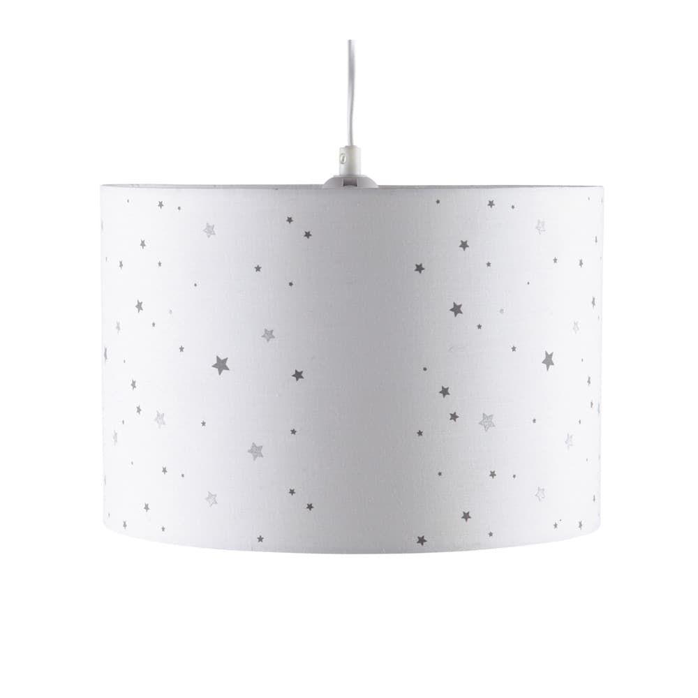 Abat Jour Pour Suspension Blanc A Imprime Etoiles Luminaire Chambre Bebe Abat Jour Lampe Et Plafonnier Chambre Bebe