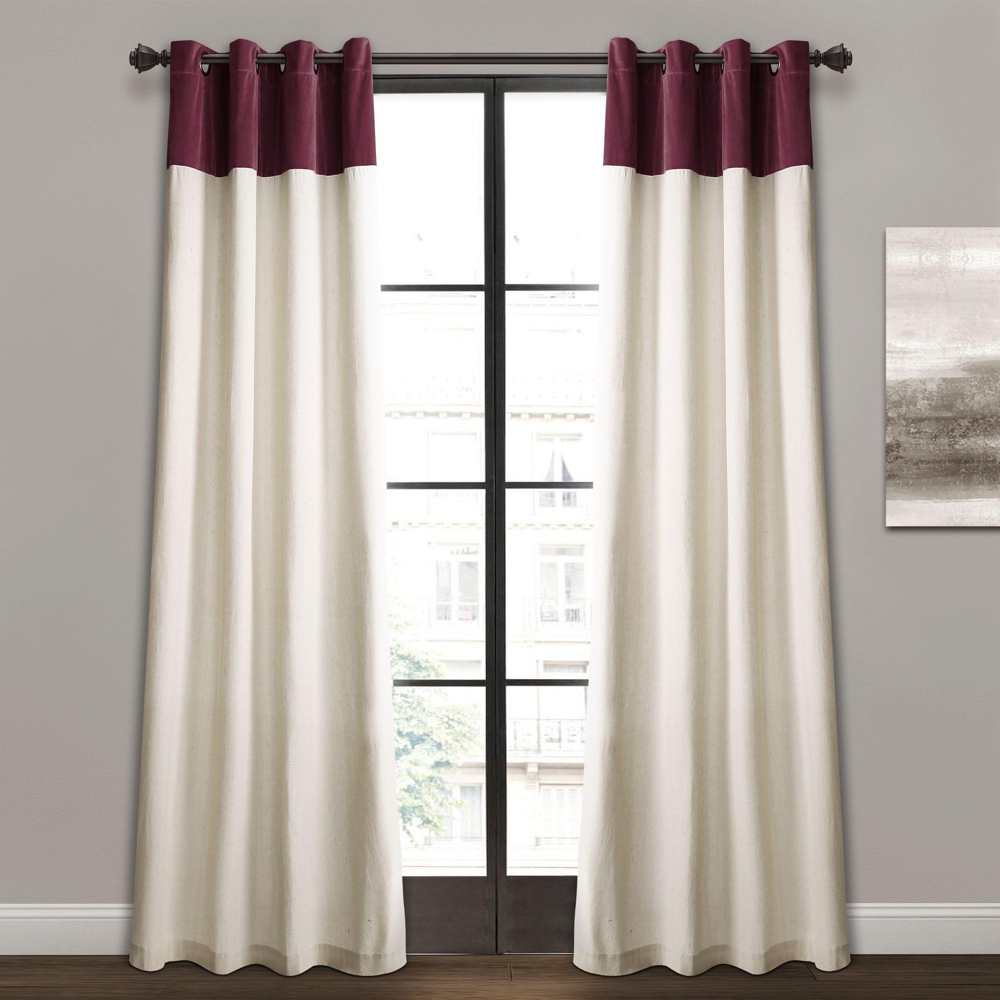 Milo Linen Window Curtain Panel Set Curtains Grommet Curtains Panel Curtains