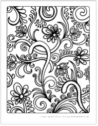 Free zen flowers coloring pages for all ages  Adult Coloring