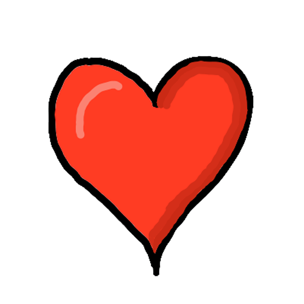 Free Download High Quality Cartoon Heart Png Transparent Background Image Heart Red Transparent It Is Best To Use In Making White Board Animations Writing St