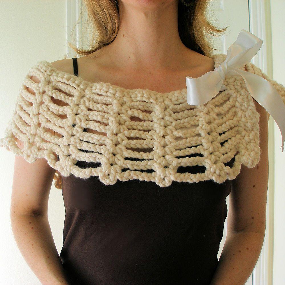 Simple beginner pdf crochet pattern shawl capelet lacy capelet simple beginner pdf crochet pattern shawl capelet lacy capelet bankloansurffo Choice Image