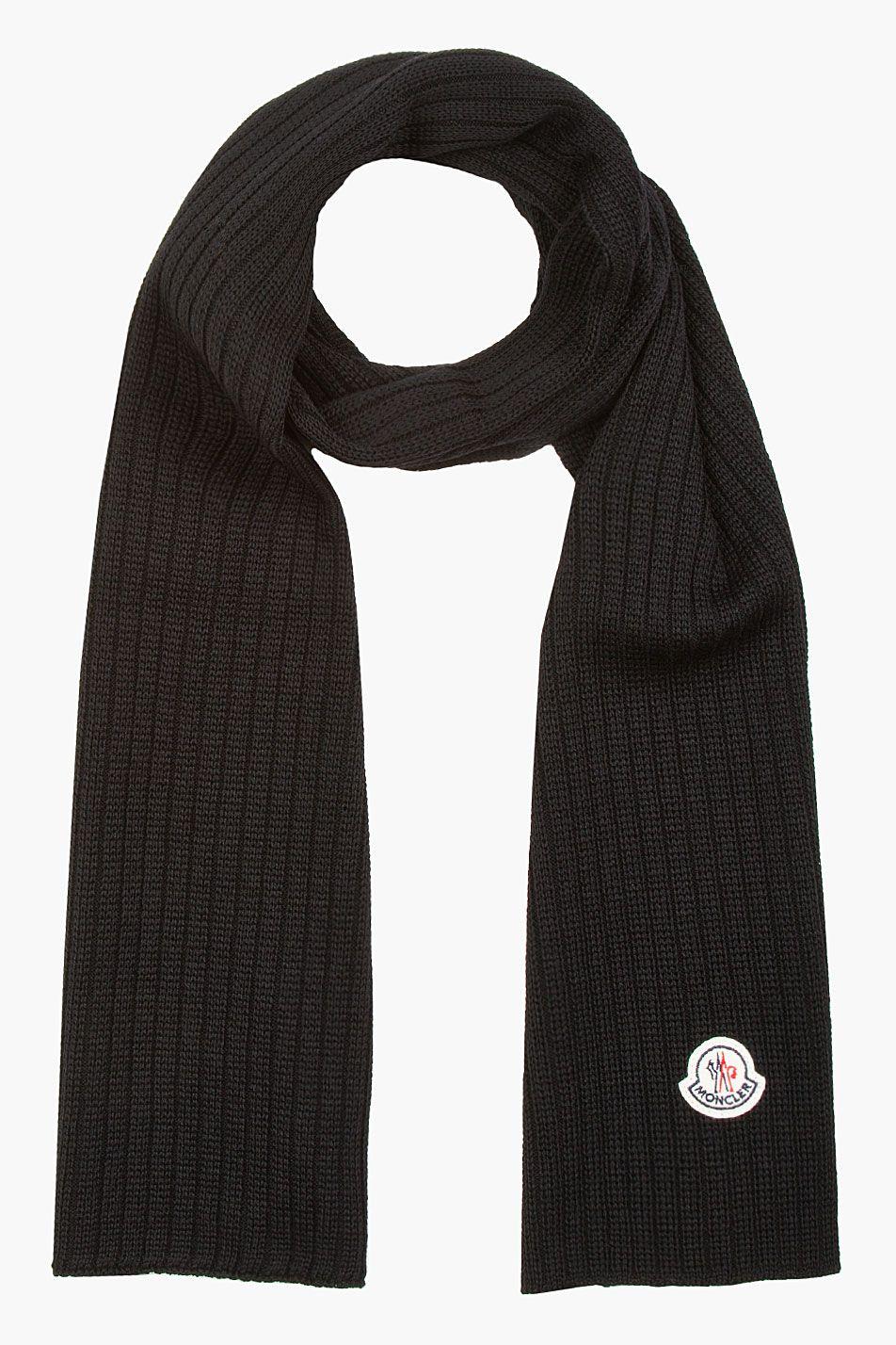 moncler black scarf