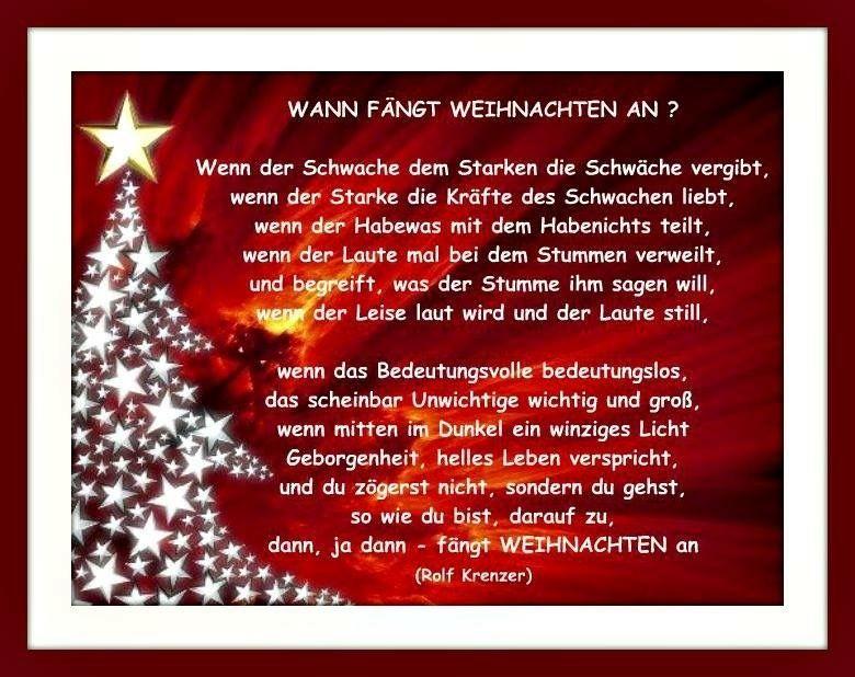Netzfund Weihnachten Spruch Gedicht Weihnachten Besinnlich Gedicht Weihnachten