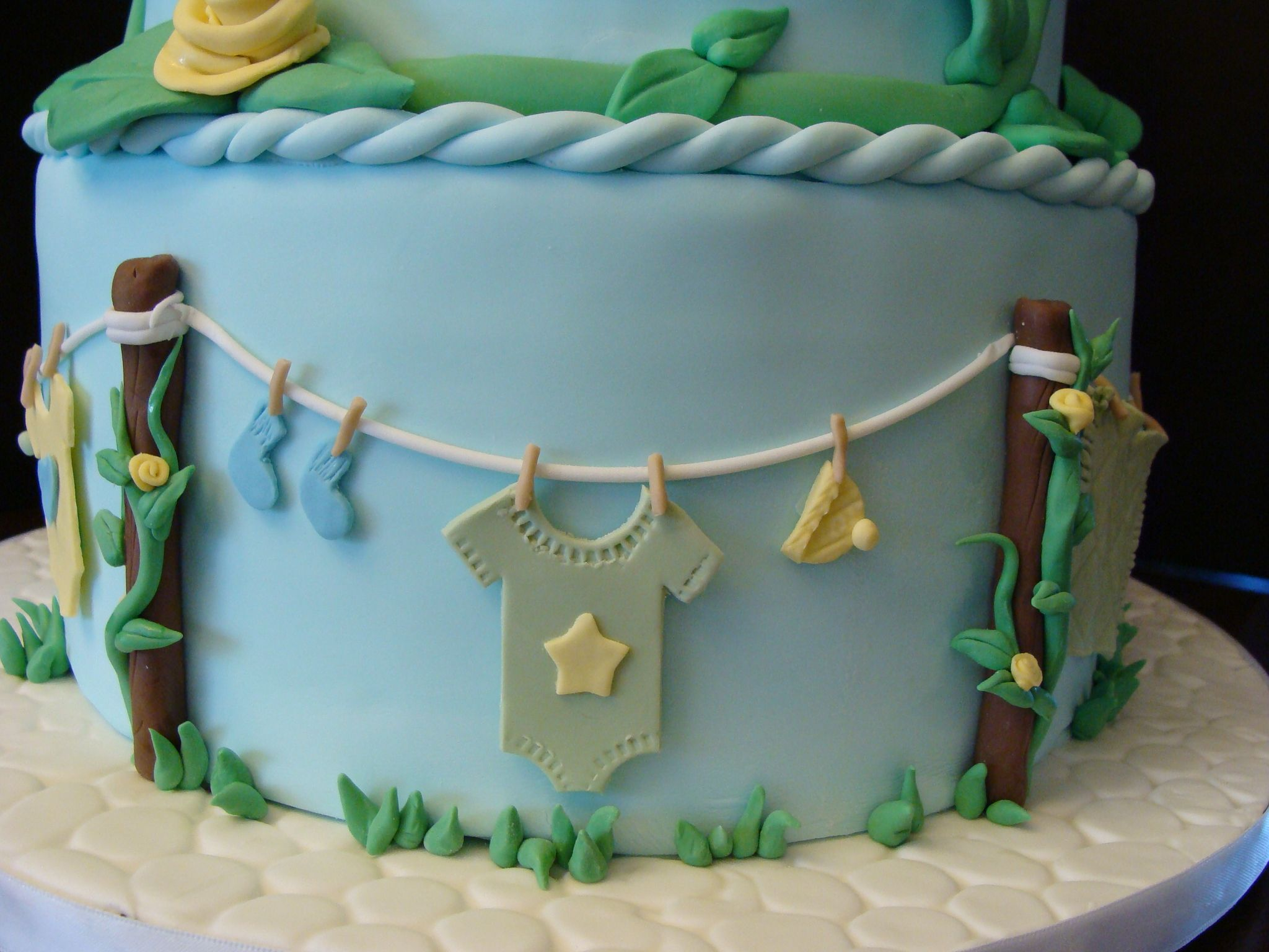 Baby Shower Cake Clothesline Theme Google Search Decorated Cakes