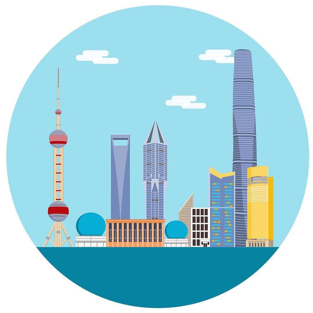 shanghai skyline shanghai skyline city china buildings rh pinterest com