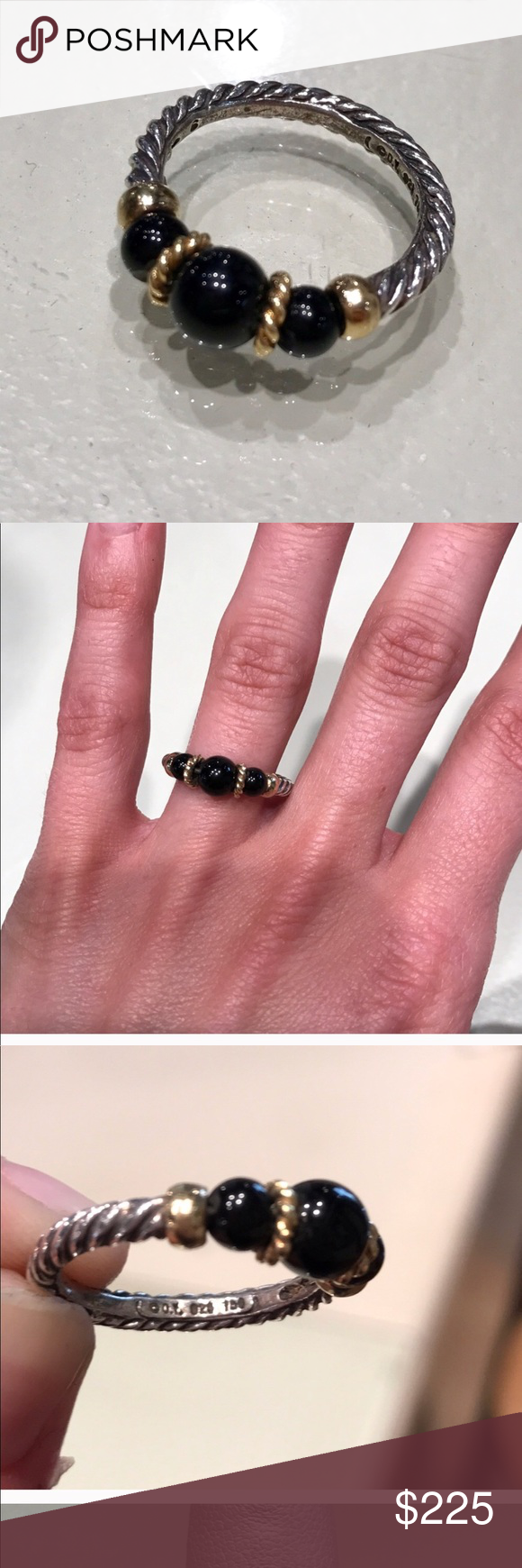 authentic David Yurman cable ring