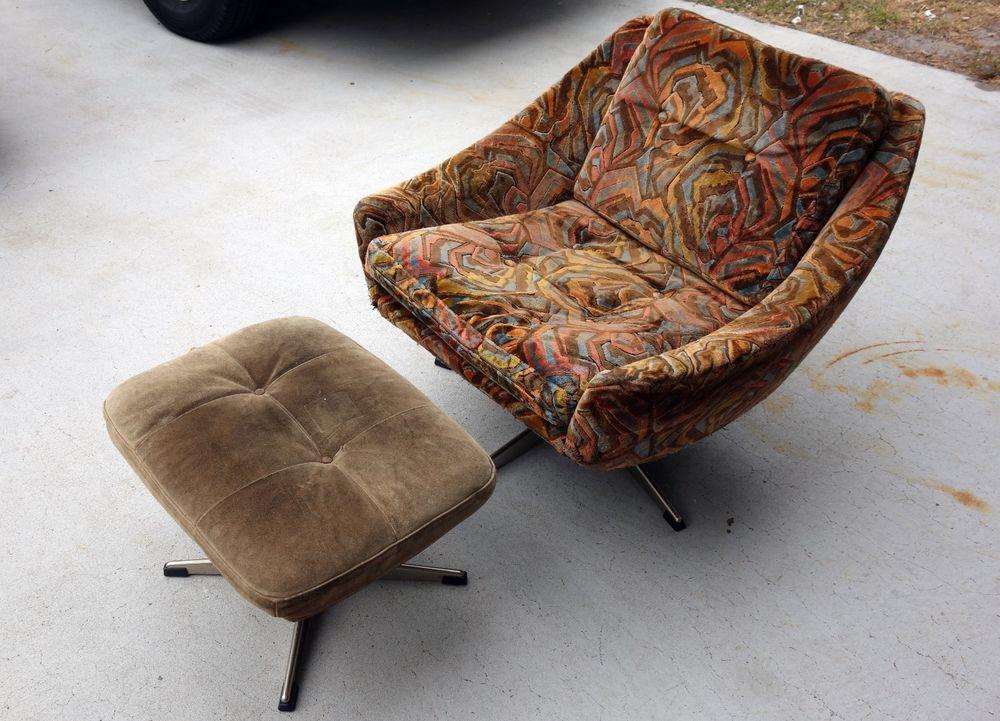 Details about Mid century modern chair w ottoman Denmark John Stuart  Furniture Co New York. Details about Mid century modern chair w ottoman Denmark John