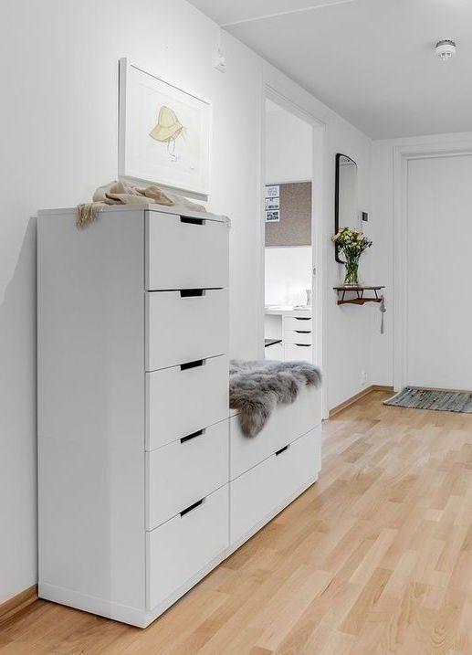 IKEA NORDLI Kommodemodul Med 2 Skuffer