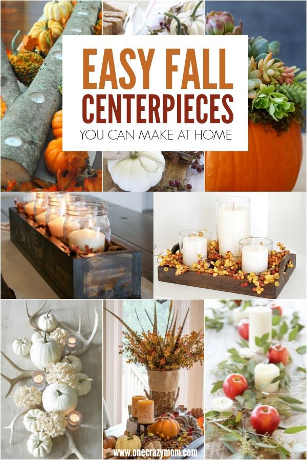 Diy Fall Centerpiece Ideas Easy Fall Centerpiece Ideas Fall Table Decorations Easy Fall Table Decor Diy Fall