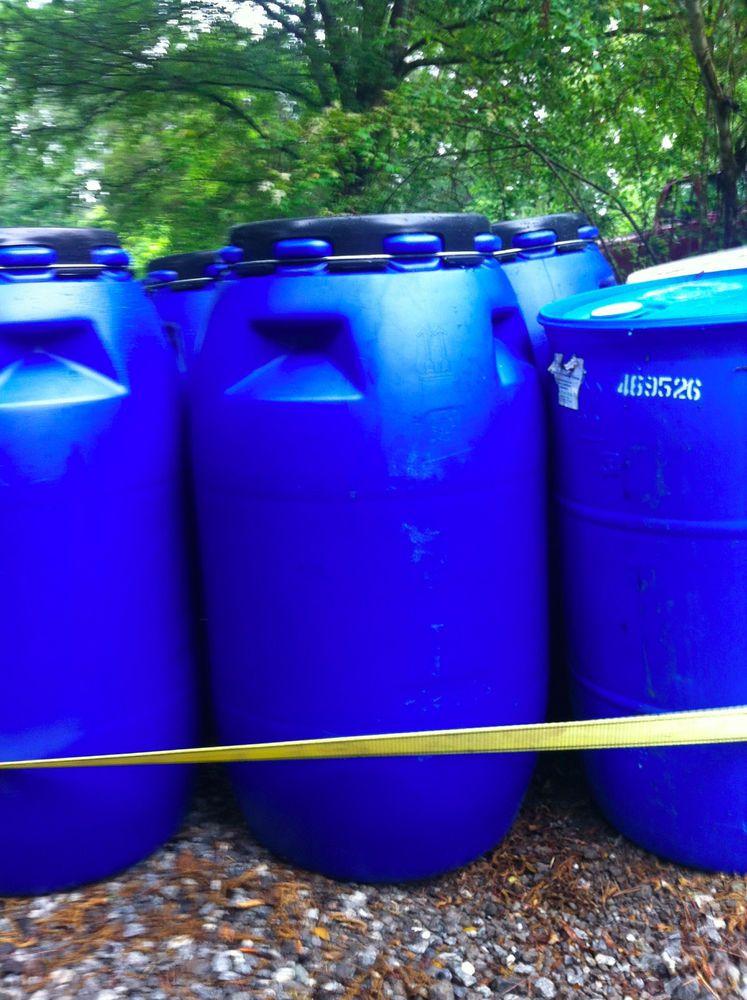 Plastic Open Top Open Top Rain Barrel Water Barrels Storage