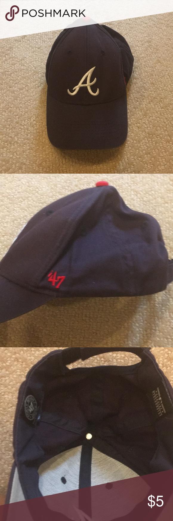 Atlanta Braves Hat Old And Used Atlanta Braves 47 Brand Hat Kids 47 Accessories Hats Atlanta Braves Hat Atlanta Braves 47 Brand