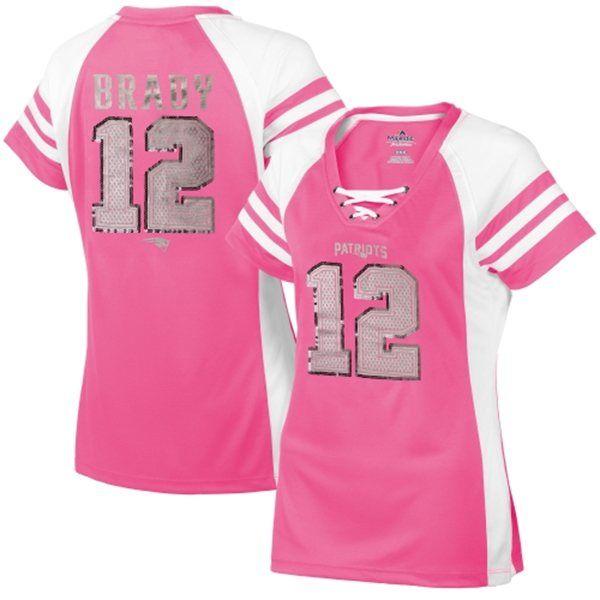 pink tom brady women's jersey