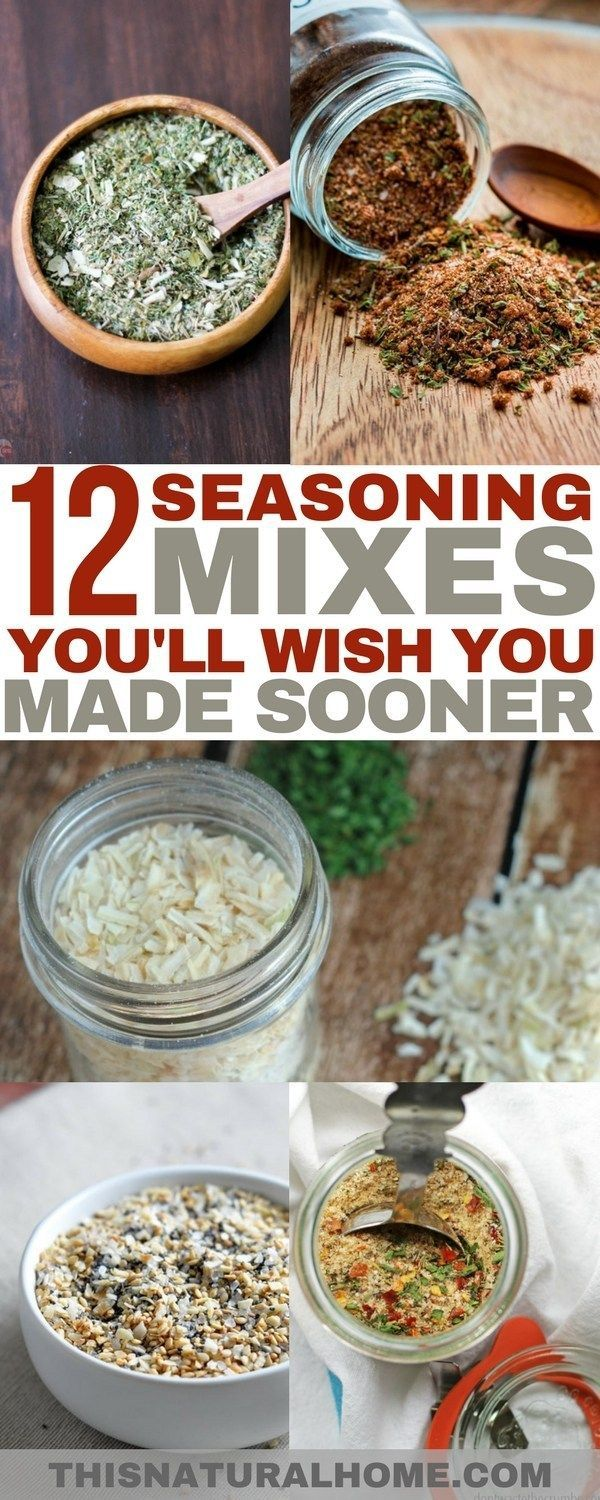 12+ Seasoning Mixes You'll Wish You Made Sooner - This Natural Home #homemadeseasonings