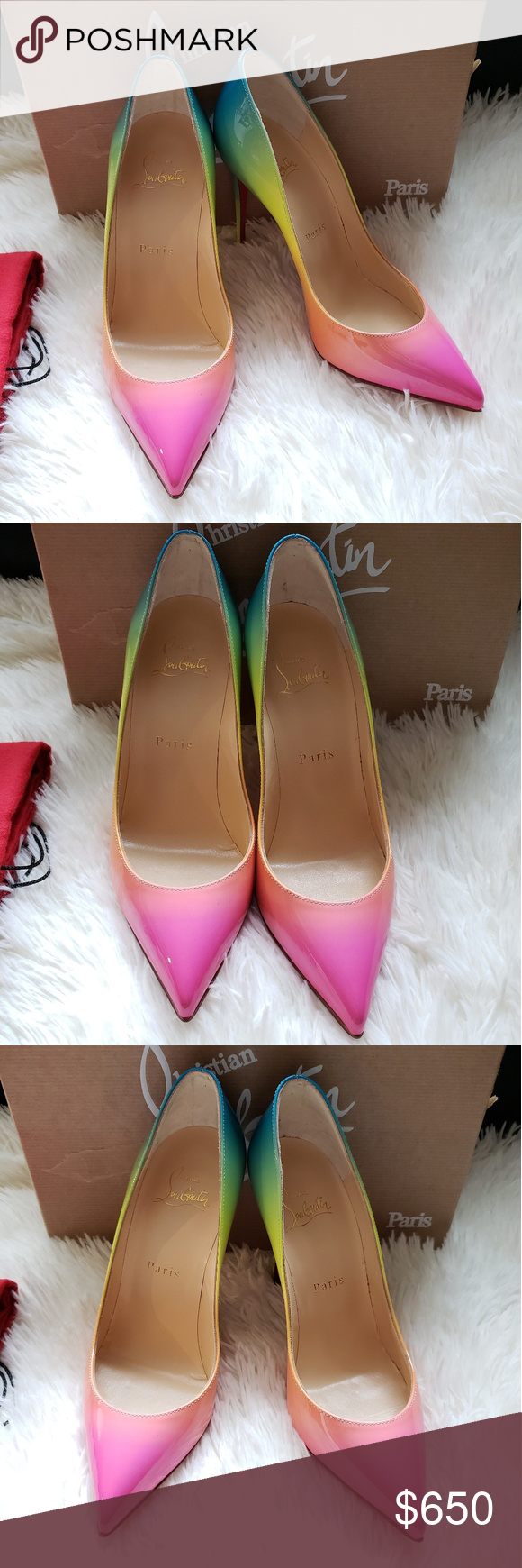 cheap for discount 3fbd2 38b42 Christian Louboutin Rainbow Pigalle Follies Pump SIze 6.5 ...