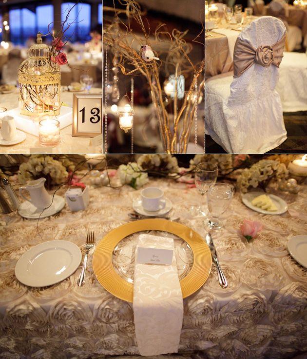 Winter Twig Centerpieces : Winter wonderland decor wedding floral tablecloth