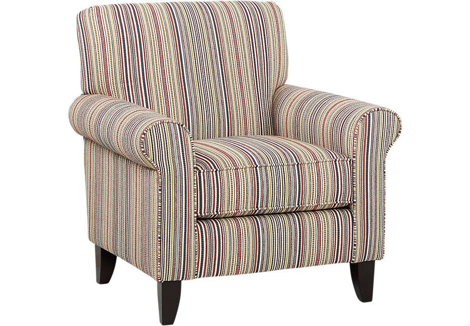 Surfside Striped Accent Chair | Blue accent chairs, Accent ...