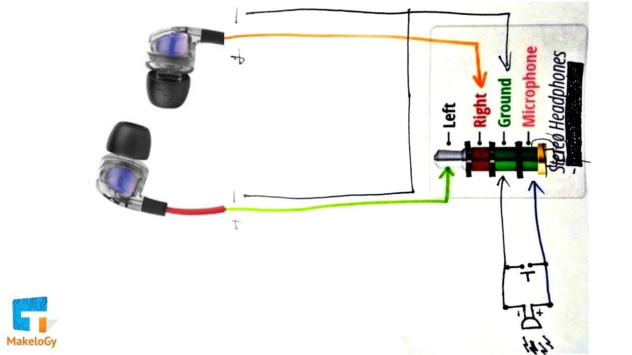 Circuit Diagram Repair Your Earphones Headphones At Home Same Simple Steps Makelogy Youtube Circuit Diagram Earphone Repair