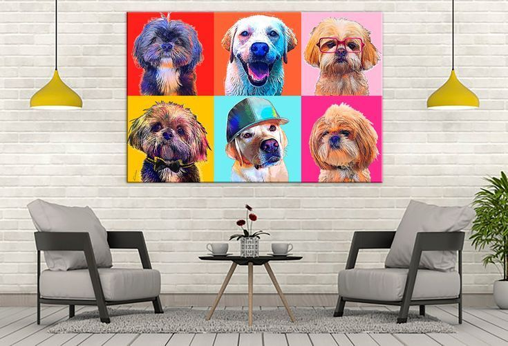 Custom POP Art Pet Portrait, Andy Warhol Style POP Art Canvas, Dog Lover Gift, Digital Pet Painting, - Pop Art on Walls -   #Andy #Art #Canvas #Custom #Digital #Dog #Gift #lover #Painting #Pet #Pop #Portrait #style #Walls #Warhol