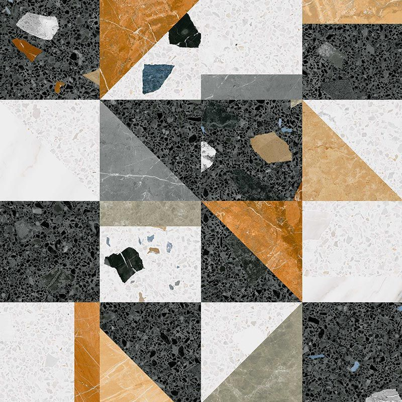 Stellato R Multicolor 80x80 Cm Arcana Tiles Porcelain Tiles Floor Tiles Terrazzo Arcanum Wall Exterior Commercial Flooring