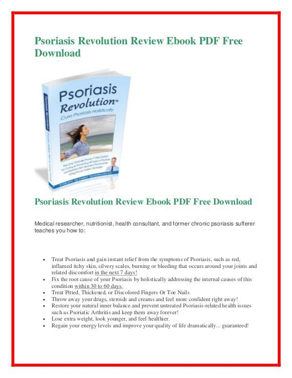 Psoriasis Revolution PDF free download Psoriasis Revolution PDF - fresh blueprint for revolution book
