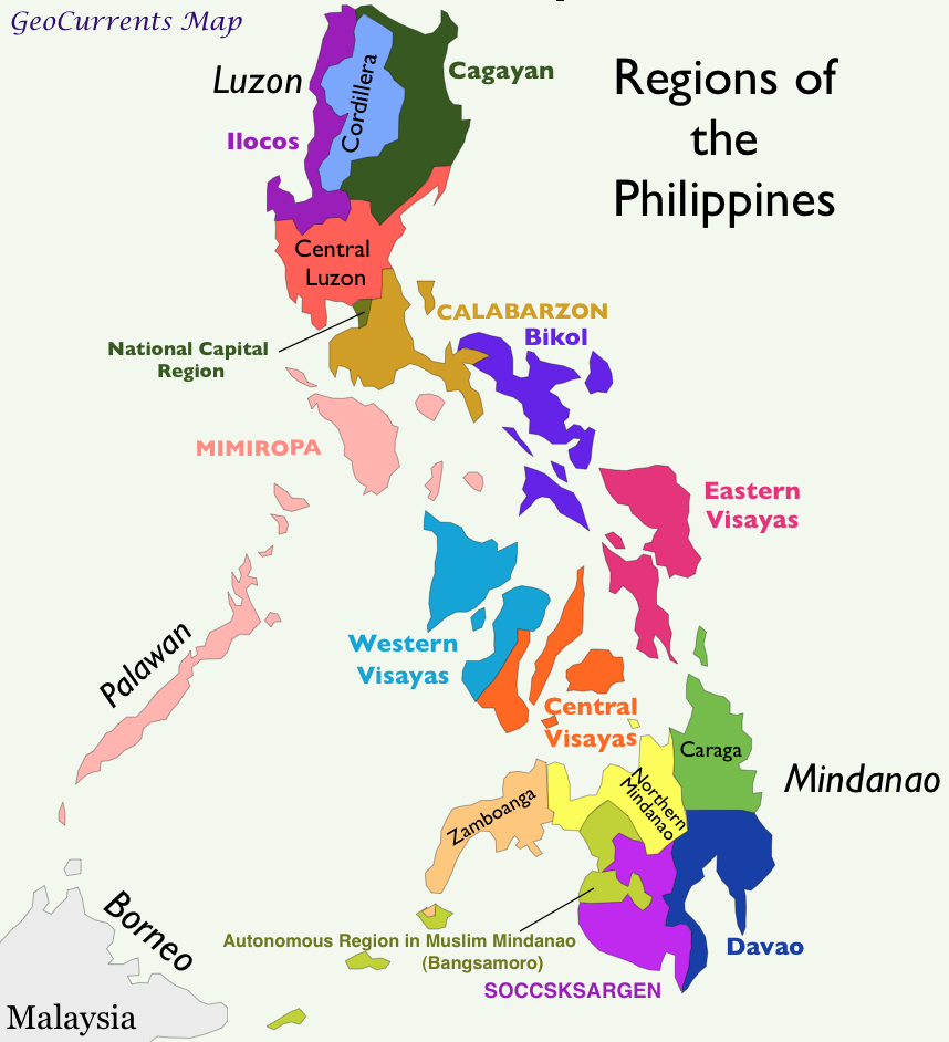 PhilippinesRegionsMap  michelin dubvill  Pinterest