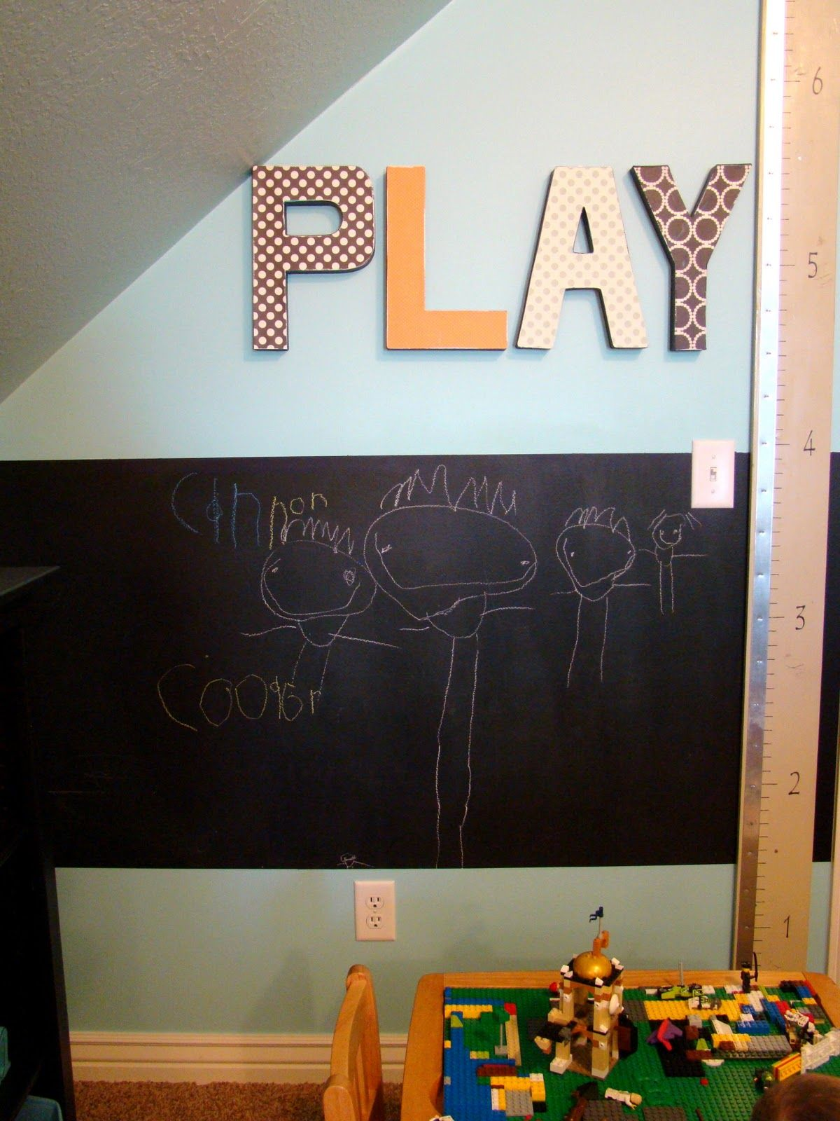 Letters And Chalkboard Paint · Play RoomsKids ...
