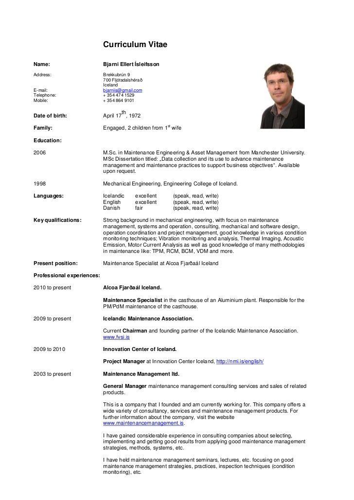 Curriculum Vitae Cv Resume Curriculum Vitae Ejemplos Curriculum ...