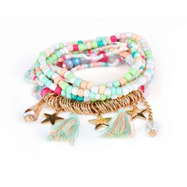 Bohemian Women 8217 S Bracelet Tel Star Crystal Beads Gift For Bracelets 5 Dollar W Meaning Zulu